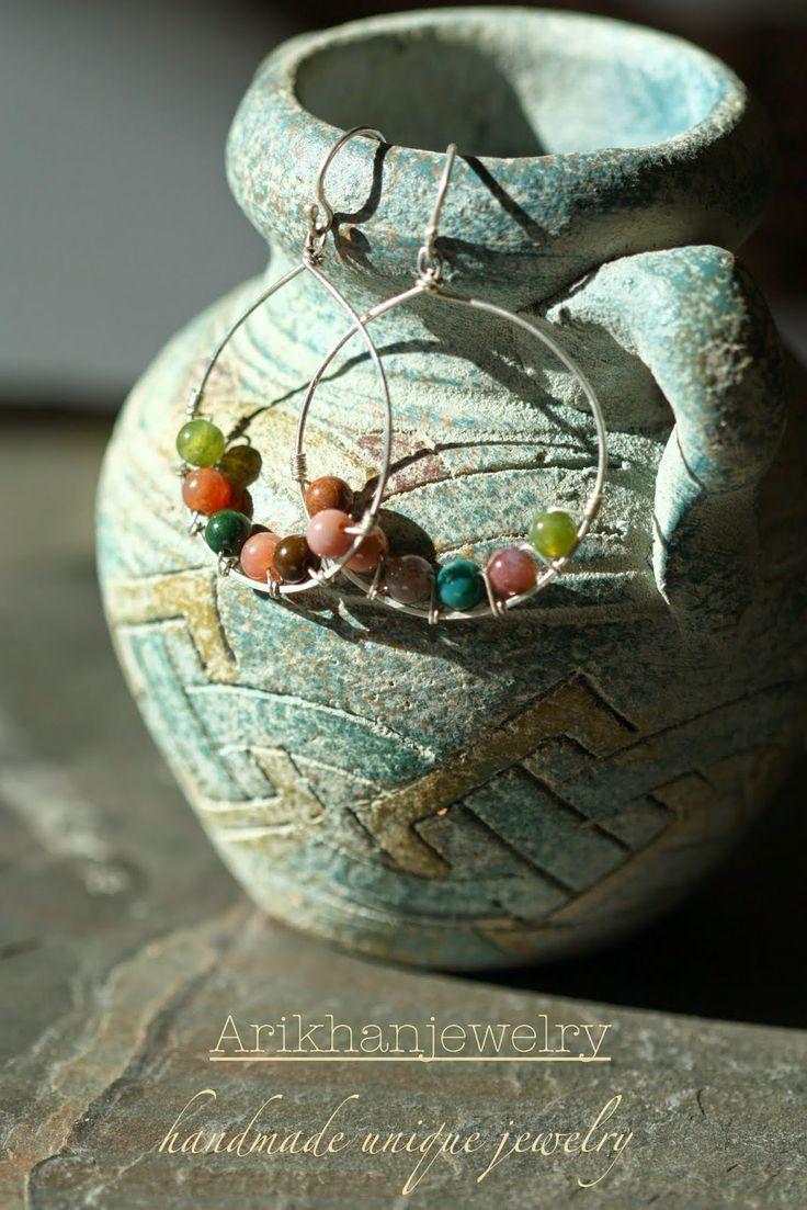 arikhanjewelry: Jaspis beads silver earring