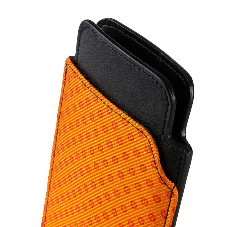 IPHONE CASE Orange with Dark Orange Polka Dots by EMME! Shop this stylish Accessory HERE > http://finaest.com/designers/emme #emme #style #menswear #polkadot #pitti #emmesilk #finaest #accessorio