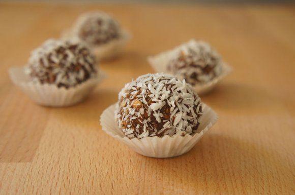 Palline di nutella al cocco