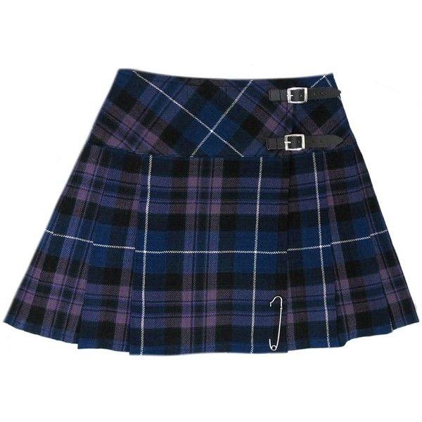 "Honour Of Scotland Plaid 16.5"" Scottish Mini Kilt Skirt US Size 4 26 ($30) ❤ liked on Polyvore featuring skirts, mini skirts, tartan mini skirt, blue plaid mini skirt, plaid skirt, mini skirt and blue mini skirt"