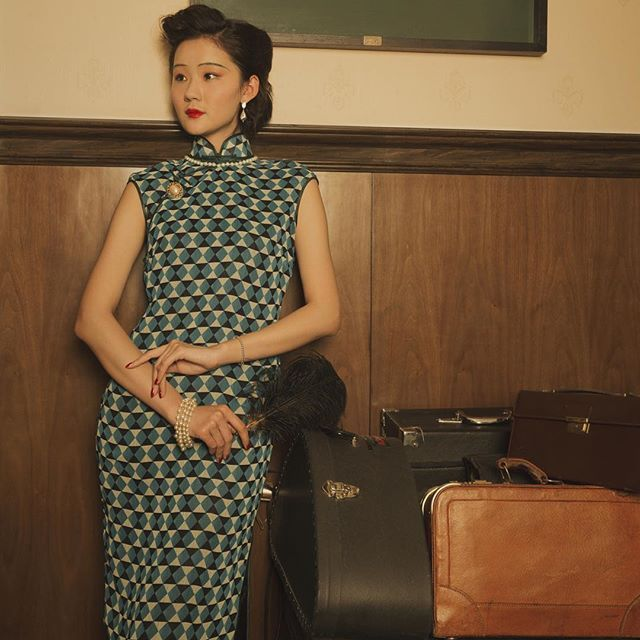 #vintagestyle #1930s #cheongsam #makeupdesign#advertisement makeup&styling:demo me!