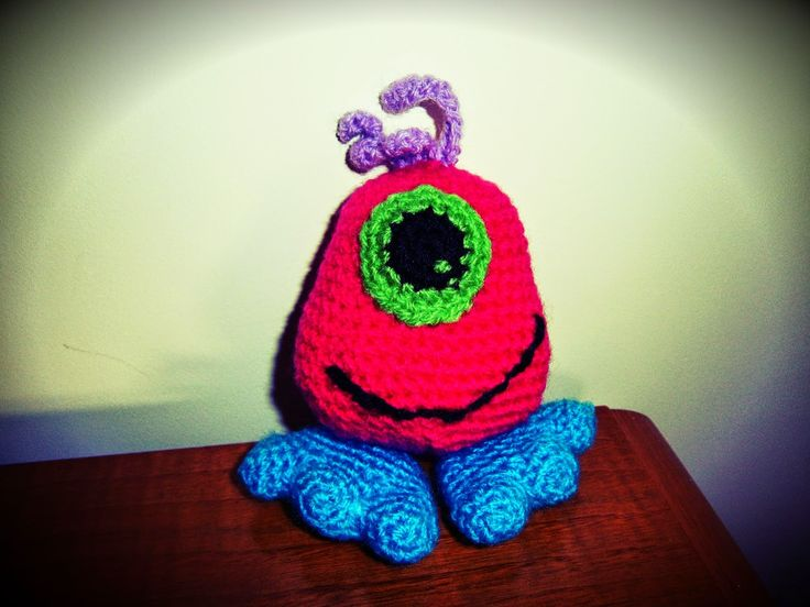 #Monstruo #oneeye #crochet #ganchillo