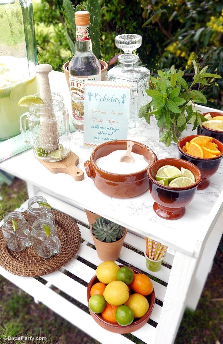 This would make a great Party idea! Un Bar à Mojitos DIY, avec Recette & Freebies