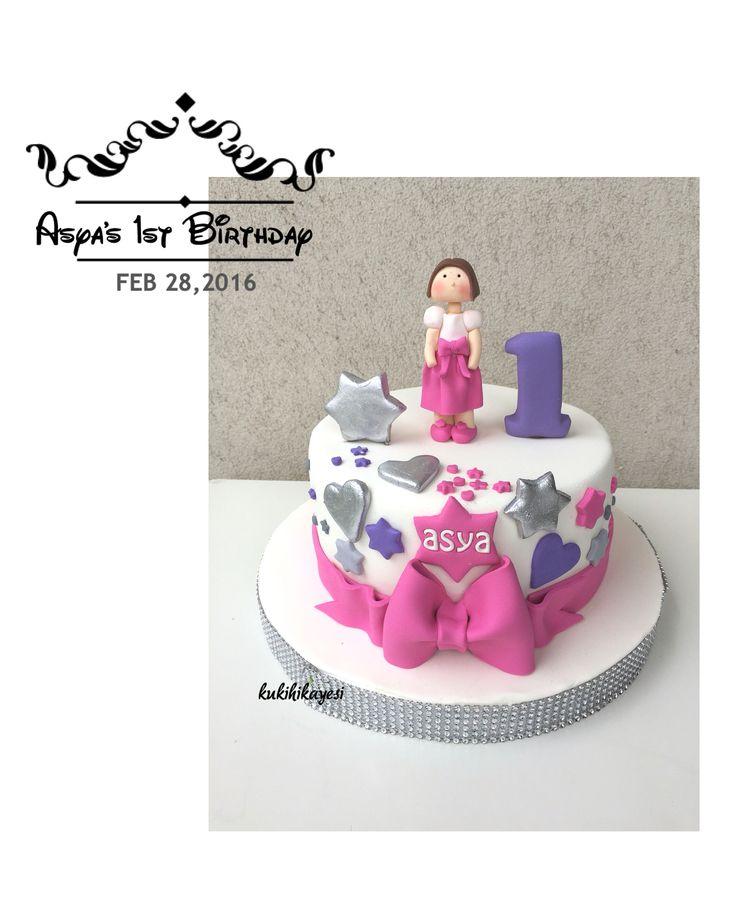 Asya's first birthday cake