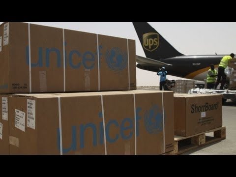 UNICEF provides aide in Africa: a UPS flight carrying 46,000 kg of life-saving supplies has touched down in Mauritania. Mauritania is afflicted by its worst lean season in years, part of the food crisis occurring throughout the Sahel region of Africa. Drought, rising food prices and failed harvests have left 700,000 people in Mauritania food insecure. Many children are now suffering from malnutrition and many more are expected to be affected.    Read the full story here: http://uni.cf/IzPLZP