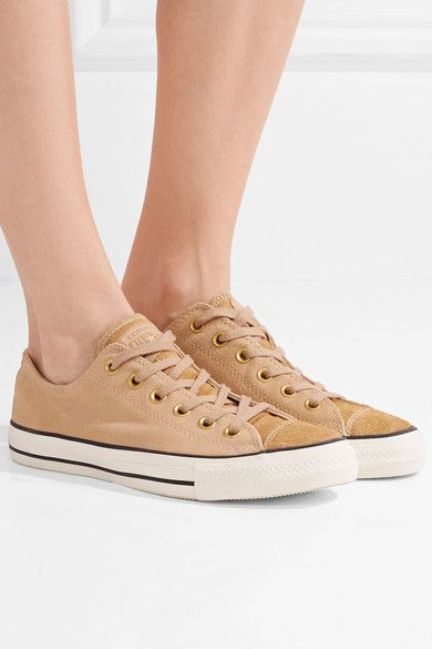 Converse | Chuck Taylor All Star '70 pony hair-trimmed suede sneakers | NET-A-PORTER.COM