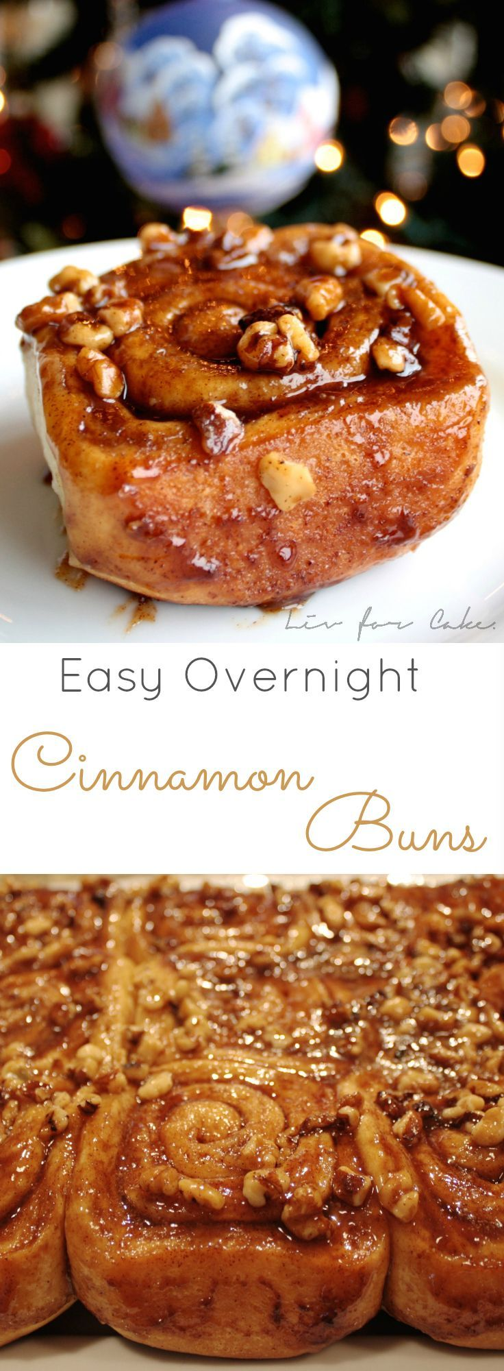 Foolproof cinnamon rolls you can make the day before and let rise in your fridge overnight. | livforcake.com