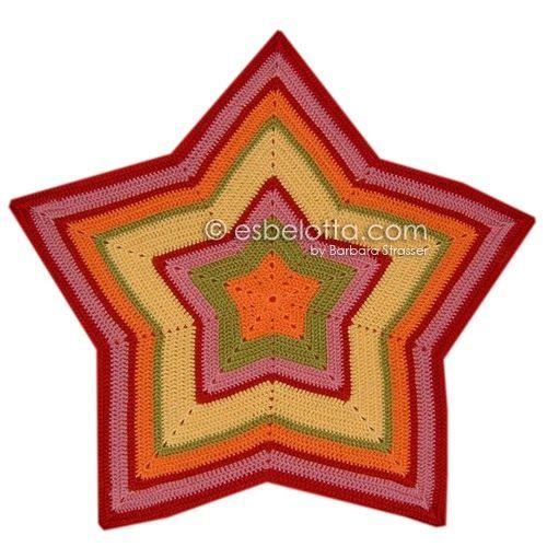 """Vor einiger Zeit habe ich eine Sternedecke gehäkelt und ein Bild dazu auf meinem Blog gepostet: Starghan (Star Afghan) .      Das Wort """" Sta..."""