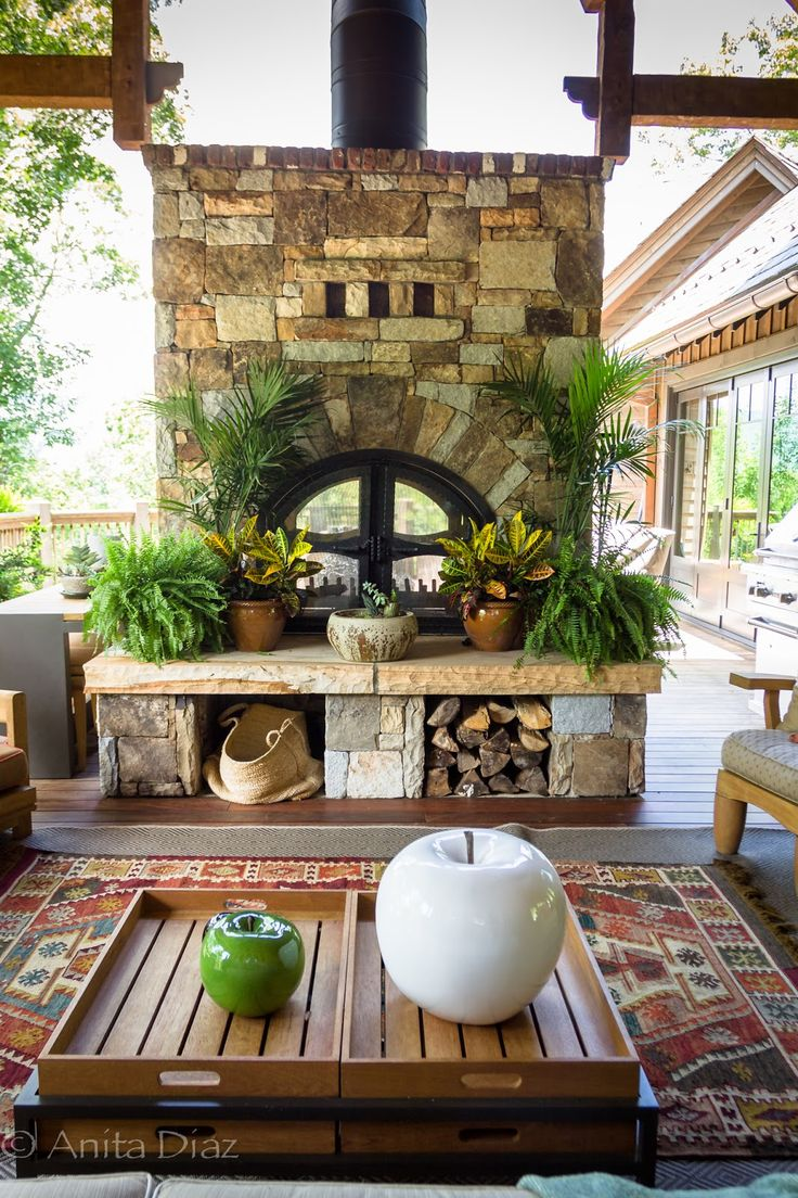 1346 best outdoor spaces fireplaces images on pinterest