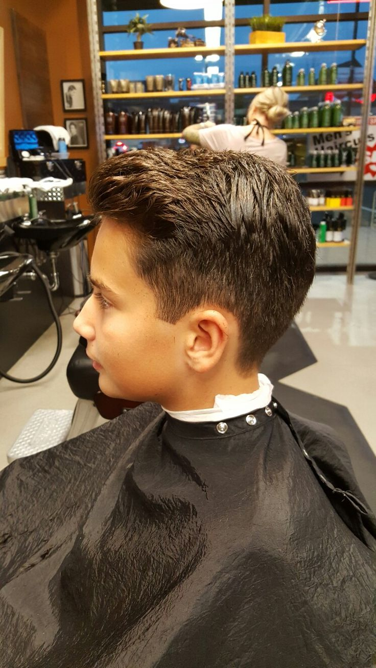 Young mens haircut!