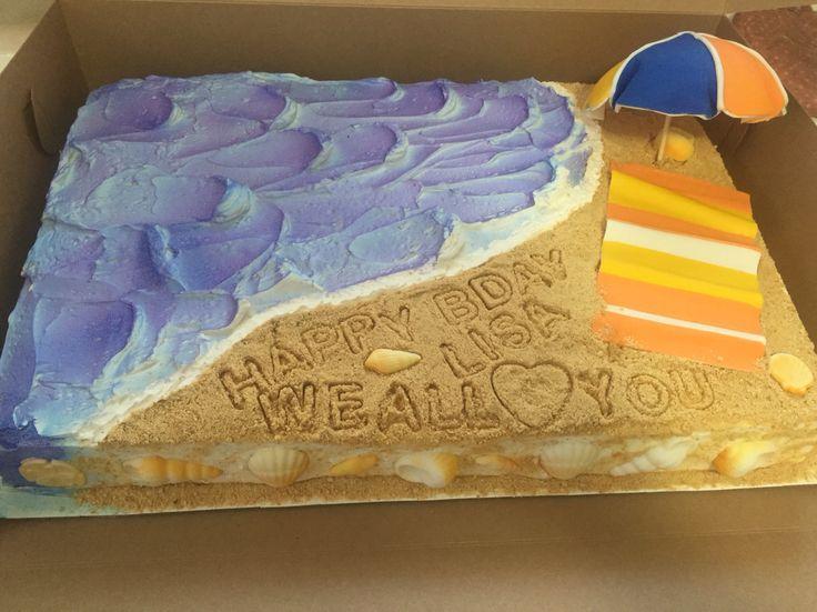 Beach Themed Half Sheet Cake All Things Cake Beach