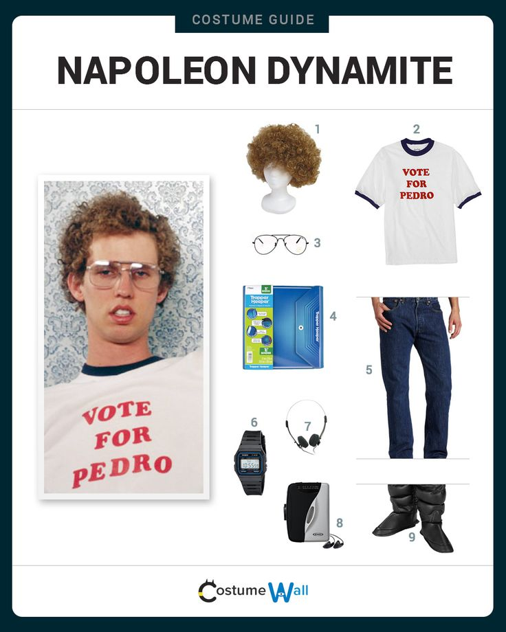 Dress Like Napoleon Dynamite! See additional costumes and cosplays of Napoleon.
