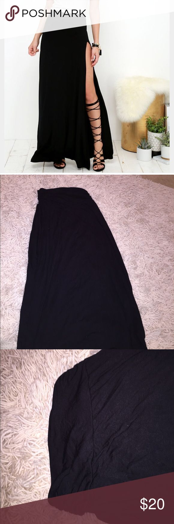 Black Maxi Skirt!! NWOT Never worn!! So so soft and adorable! Has a nice waist band! *not Brandy Melville ** Brandy Melville Skirts Maxi