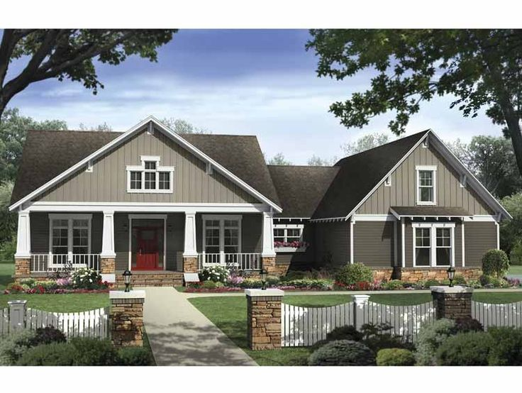 Craftsman House Plan With 2400 Square Feet And 4 Bedrooms