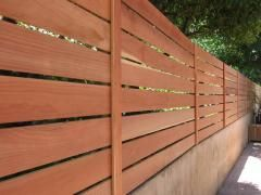 How to build a horizontal fence, picture