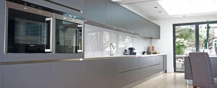 Grey Matt Handleless Kitchen