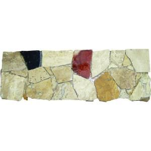 4 In. x 12 In. Spanish Rock Strip Marble Listello Floor & Wall Tile (1 Ln. Ft. per piece)-THDW3-BOR-SPRKST4X12H at The Home Depot