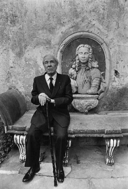 Ferdinando Scianna, Jorge Luis Borges in Sicily.