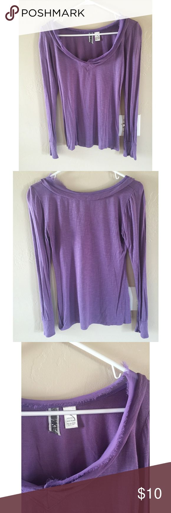 ✨5/$10✨BKE Purple Long Sleeve Top Small mark on tag to prevent returns. A bit lighter in person. Color is closest to last picture. Good condition, no stand out flaws! ✨✨I am adding lots of $5 items! Feel free to make a bundle offer on them.✨✨ BKE Tops