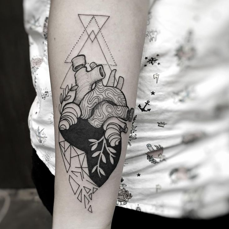 Heart tats are overused in my opinion, but if you're deadset on getting one being creative like this design is probably your best bet.