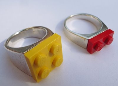 For Richard, Lego themed wedding ideas, including rings, cufflinks, and favors!: