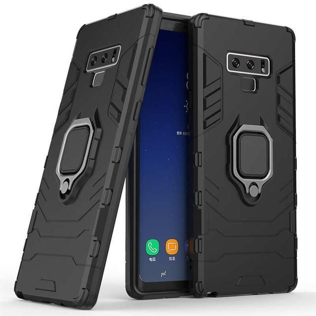 Znp Shockproof Stand Phone Case For Samsung Galaxy Note 9 With Holder Ring Armor Case For Samsung A5 A7 A8 Plus J4 J6 2018 Cover For J6 2018 Red In 2020