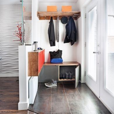 Un hall d 39 entr e clairement efficace id es pour la for Amenagement vestibule maison