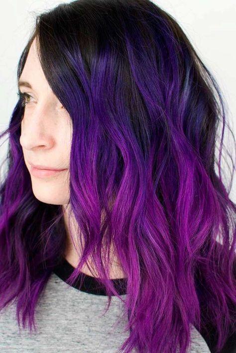 2 X Simply Bright Purple Pion High Colour Permanent Hair Dye
