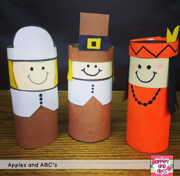 Thanksgiving puppets pilgrims craft thanksgiving crafts for Toilet roll puppets