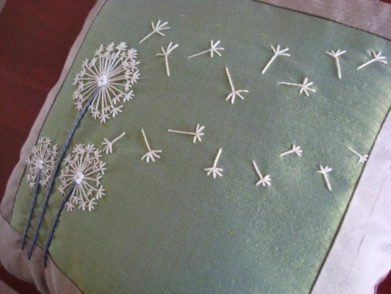 "dandelion stitches--love the way they ""blow"" across- would make a great book cover"