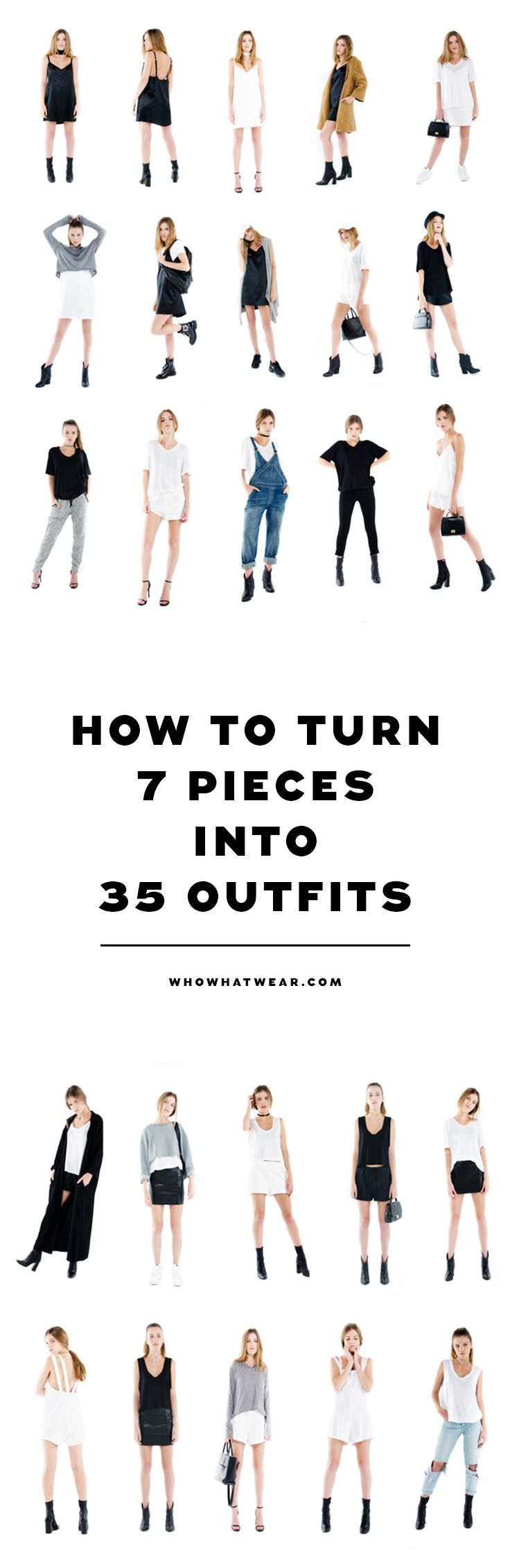 How to actually build multiple outfits out of only a few pieces.