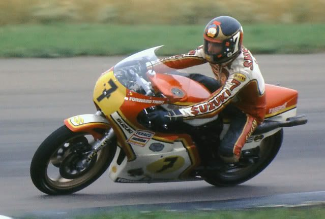 Barry Sheene Silverstone 1977