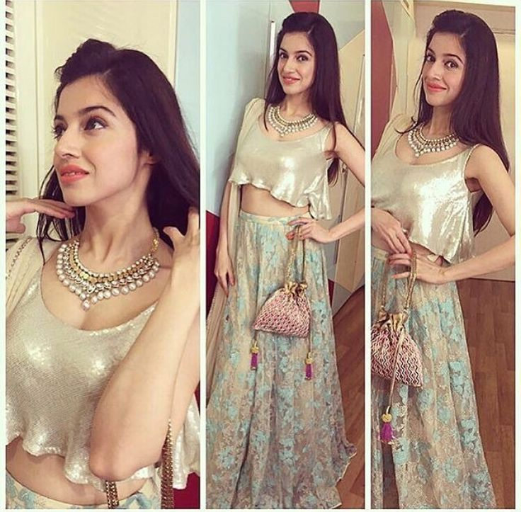 Divya Khosla # pernia Qureshi # cropped top lehenga # Indian fashion #