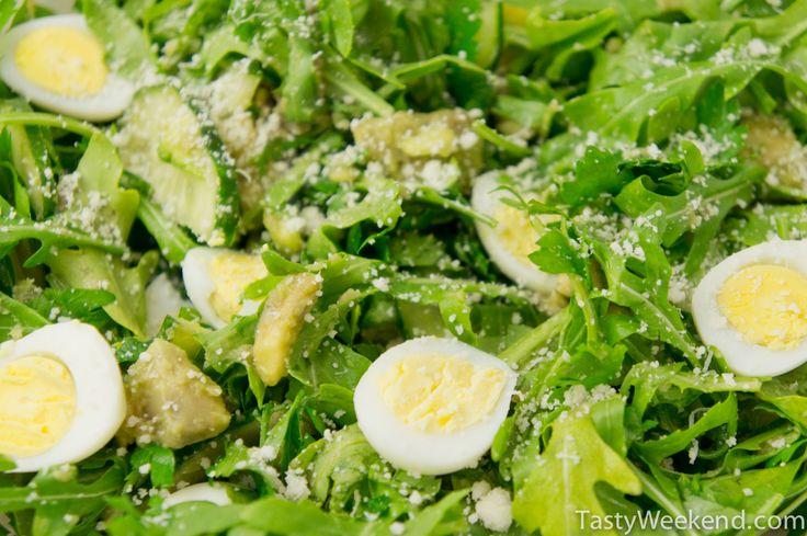 Салат из авкадо с семгой