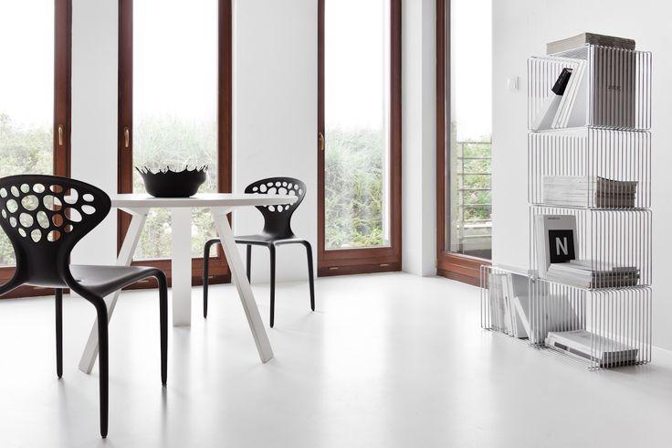 #KOLAB _d o m o design by KASIA #ORWAT home design \ #black & #white \ #MOROSO #IKEA #Panton Wire Shelf #Montana #resin flooring
