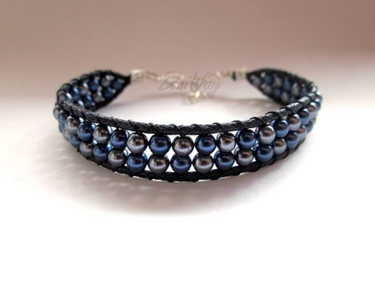Navy blue & Silver