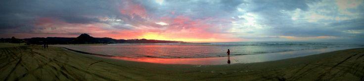 Sunset at 90 mile beach