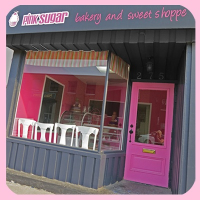 Pink Sugar bakery and sweet shop - just opening in Owen Sound.  Beautiful cakes and all sorts of Yum!