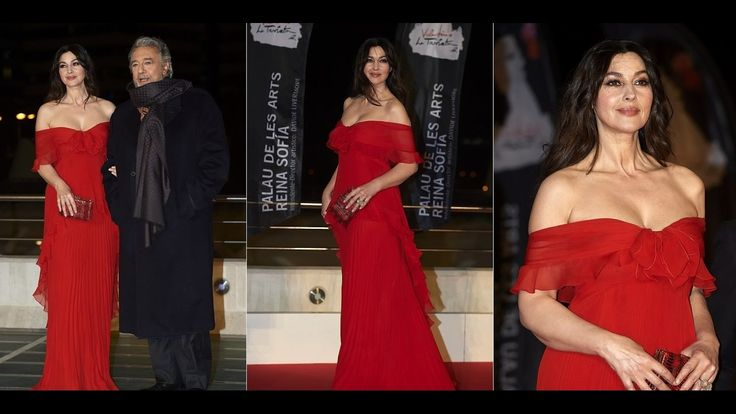 #Monica #Bellucci #Lovely #red #frock #2017