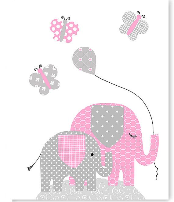 233 best baby shower images on Pinterest | Child room, Elephants and ...