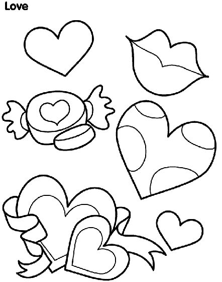 25 Hearts Coloring Pages Printable For Valentine Free Kids