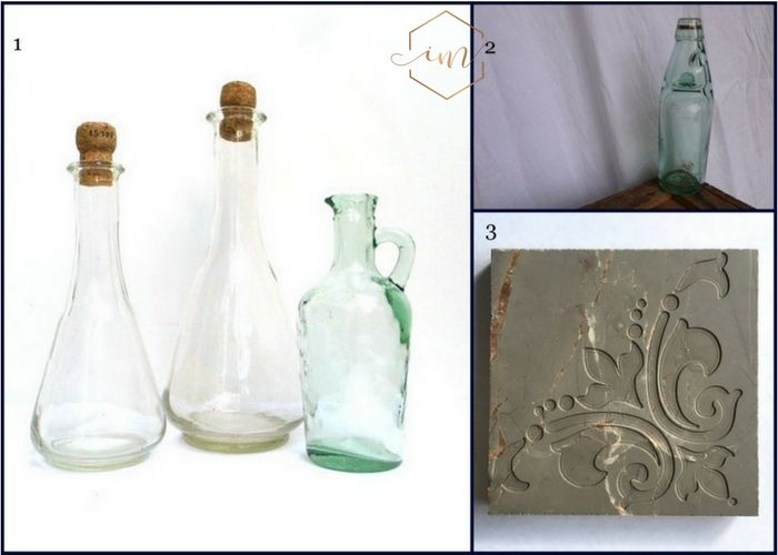 Mamma Mia inspired Glass wine decanters and glass bottles,Also a stone tile