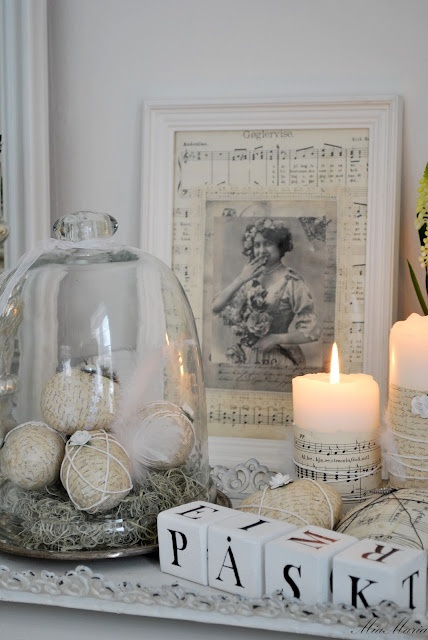I have lots Vintage cloches and love using them to decorate my home for every season.