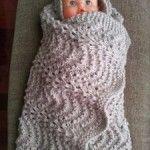 18.- Manta para Samuel en punto de ondas / Waves Blanket for Baby