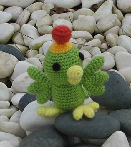 "Ravelry: P-Chan Custom - The bird in ""Celestial Warriors Sun Red"" pattern by Sherri O Chan"