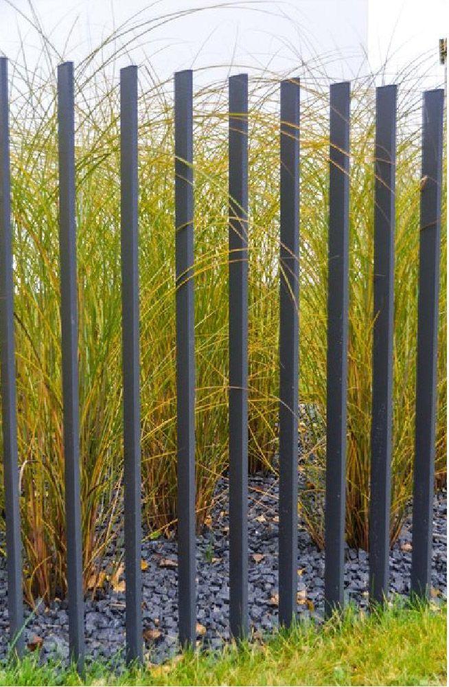 ... Metal fence.