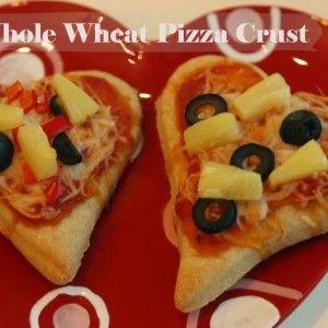 Valentine's whole wheat pizza crust