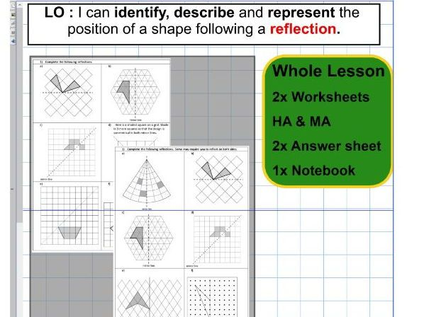 Reflection - Geometry - Position of shape -  KS2 - Whole lesson