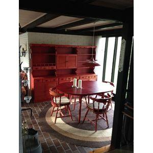 Spisebord m/stole, Træ, b: ...