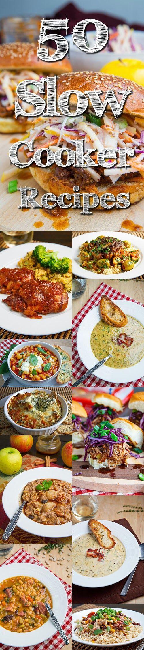 50 Slow Cooker Recipes {Closet Cooking}